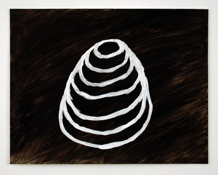 White lined cone painting 2014
